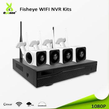 2018 New popularity security 2MP 1080p cctv 4ch wifi nvr kits cctv kits H.265 WIFI max 800m easy installation and power supply