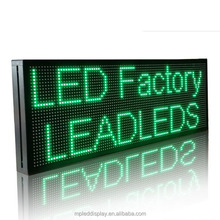 Ali express High quality cheap 16in x40in waterproof P10 SMD single color display screen parts programmable led sign board