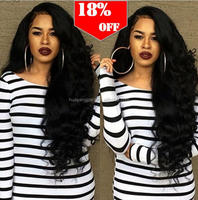 New Product Long Peruvian Hair Full Lace Human Hair Wig For Customized