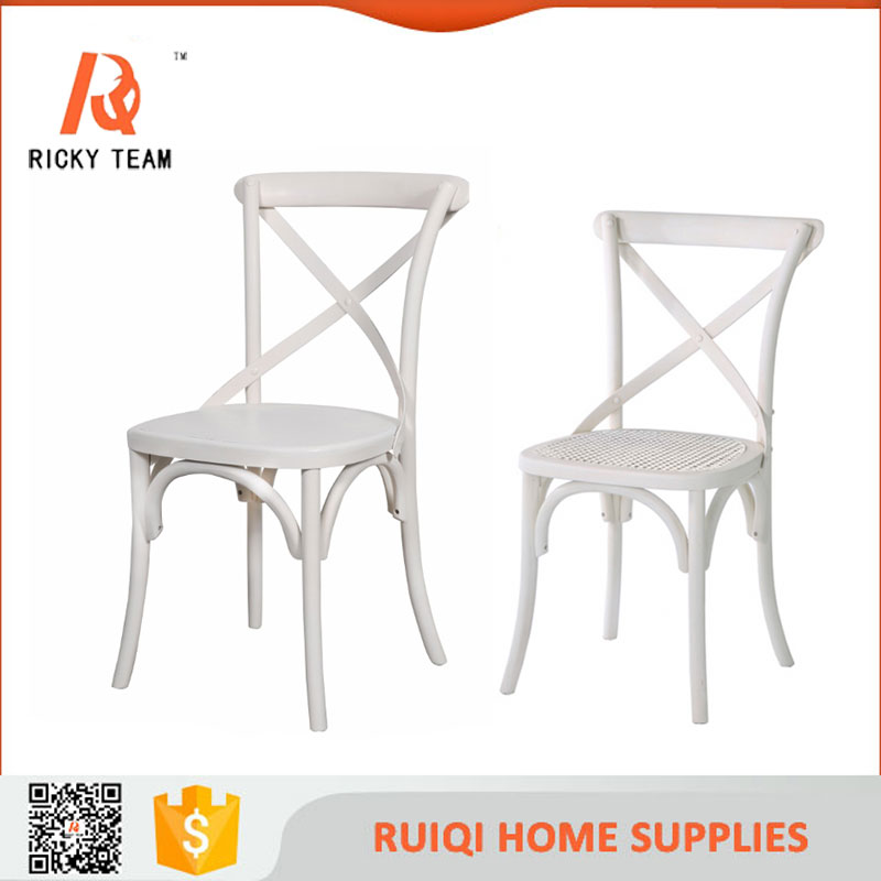 White plastic dining chair wedding resin cross back chair for White plastic dining chair