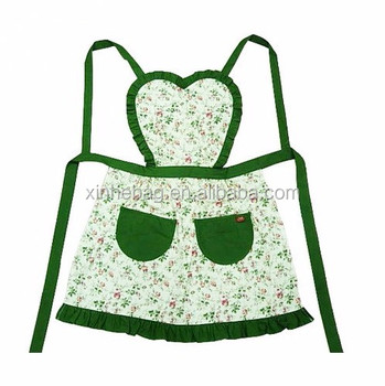China wholesale most popular cotton cooking kitchen apron for woman, nice design and cheap