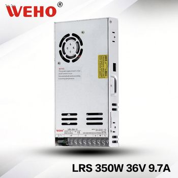 WEHO CE Rohs LRS-350-36 new design 30mm slim smps 110/220vac input 36vdc 350w power supply