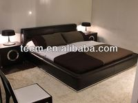 italy design real leather beds ready to assemble bedroom furniture
