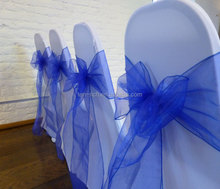 New fashion design royal blue sashes wedding chairs