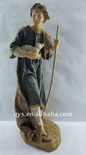 colored young jesus figurine