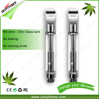 Welcome OEM/ODM CBD oil smoking pen e-cigarette replacement cartridges glass 510 oil vaporizer cartridge from Ocitytimes