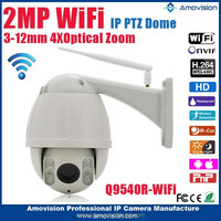 2015New Amovision wifi H.264 onvif 1080P CMOS IR 30m 4X Zoom 2.8-12mm high speed dome outdoor cctv wifi camera