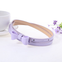 Fashionable Solid Color Pu Leather Belts