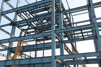Structure steel fabrication heavy design two story steel structure warehouse