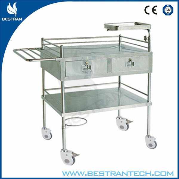 BT-SCT001 Hospital stainless steel trolley medical emergency equipment