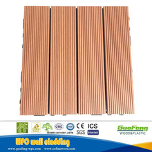 Easily Assembled 300x300mm Interlock DIY WPC Deck Tile wpc floor tile