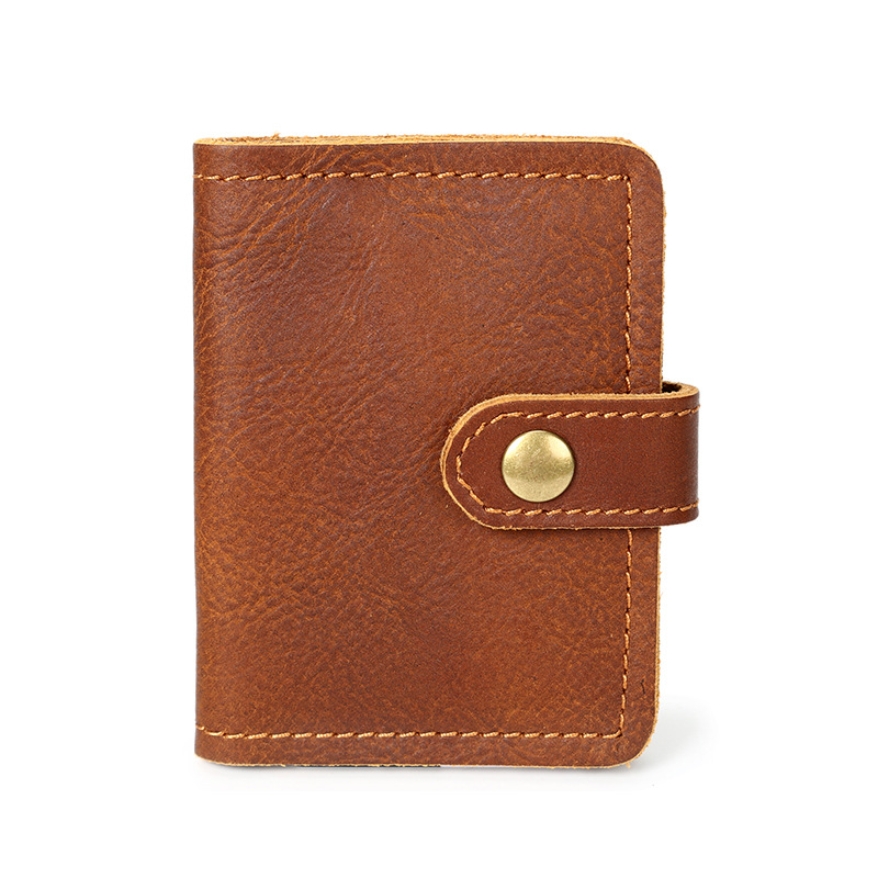 Card wallet retro men's clutch credit card photos leather wallet