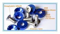 M8 Fender Washers aluminum anodised and bolt stainless steel in China