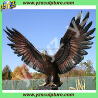 outdoor decoration large casting bronze eagle statue