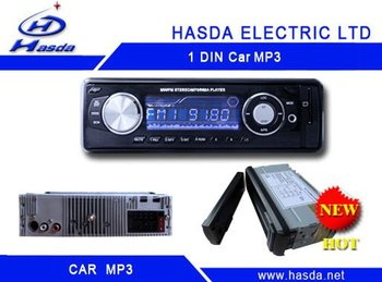 1 din car radio player with mp3 /USB ,slip down detachable panel .Hasda H-7003