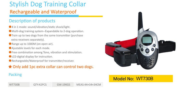 Remote Dog Training Vibration Sound Control Collar--With Ce And R&Tte