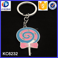 Wholesale Promotional Gifts Metal Candy Key Fob Keychain