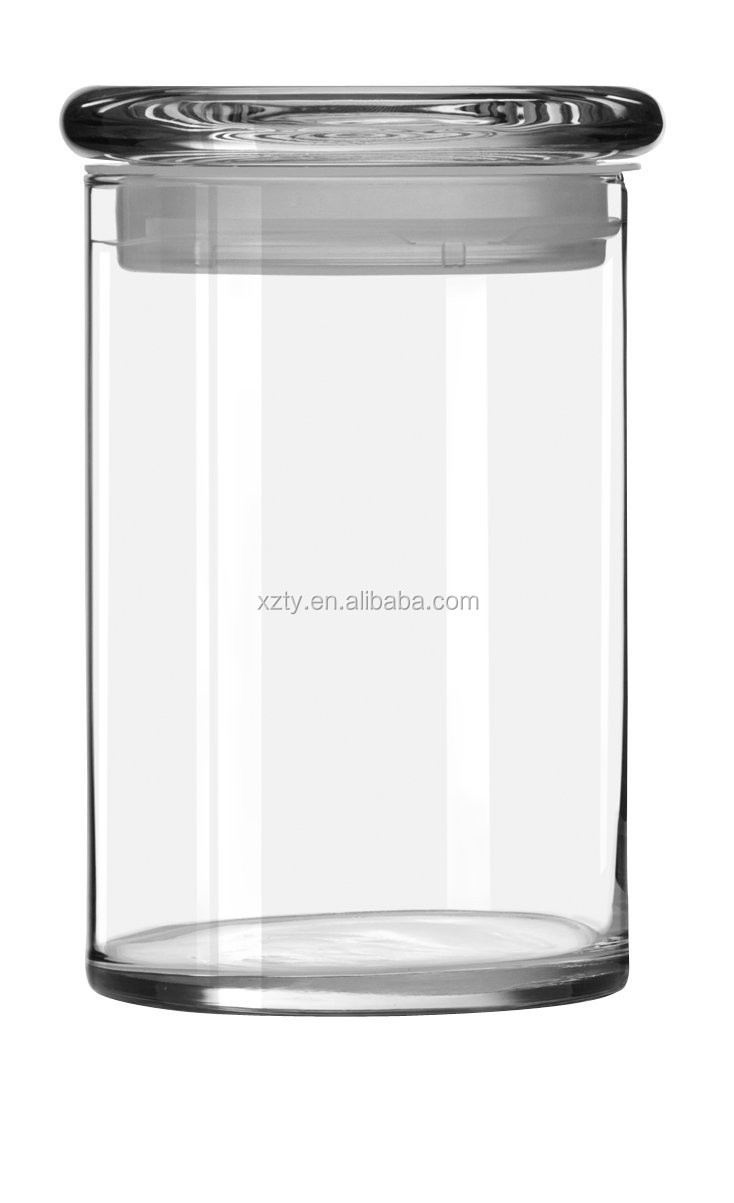 clear and frosted customized glass candle jar