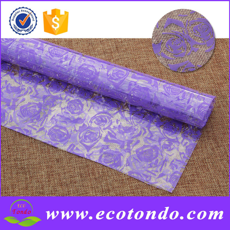 Custom Printing Film Cellophane Plastic Wrap For Packaging Flowers