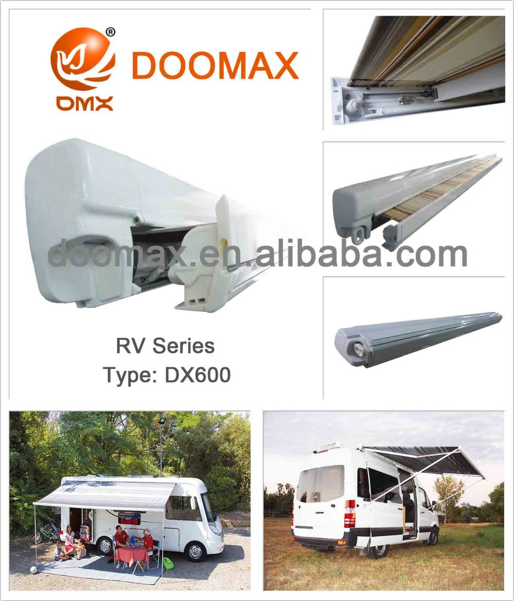 #dx600 Canvas Retractable Car Rv Awning