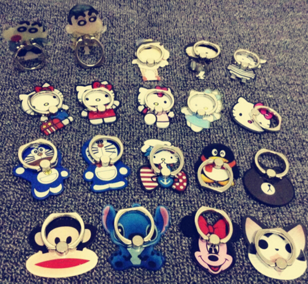 Factory Price Smart Slim Metal Hot selling 360 degree rotating finger cartoon ring phone holder for mobile phone FH02