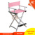 Comfortable professional colored canvas folding chair, aluminum makeup chair,load-bearing and strong chair