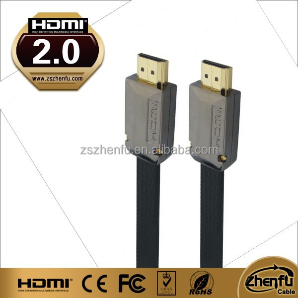hdmi flat cable 1.4 version ABS Metal Shell premium quality 2015