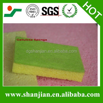 Clean easy Wash easy compressed Cellulose Sponge for household
