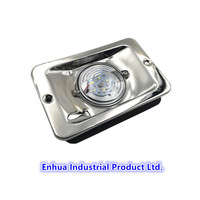 LED Stainless Steel Rectangular Transom Mount