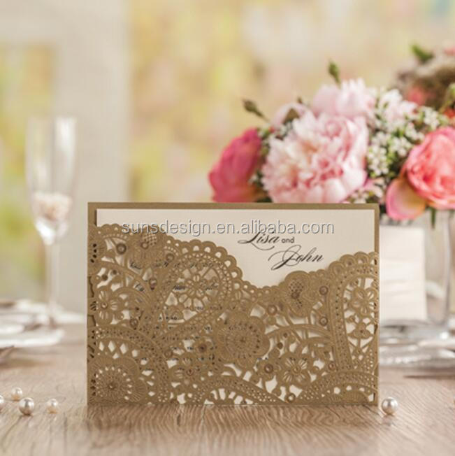 Royal Laser Cut arabic <strong>wedding</strong> / birthday invitation cards with Embossed Flower CW5262A
