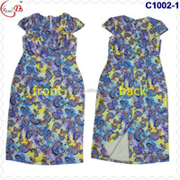 C1002 newest fashion best selling African women's African kaftan Lady dress making you perfect and slim figure