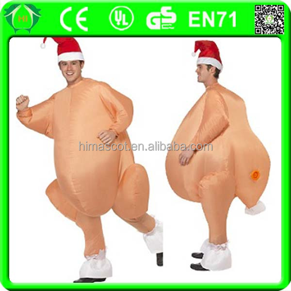 HI CE wholesale clothes turkey inflatable turkey costume for party