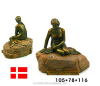 Denmark Mermaid like resin mermaid figurine 3d building model