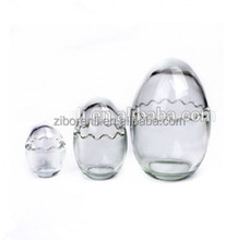 Tear Drop Home Decorative Clear Egg Shape glass candle holder