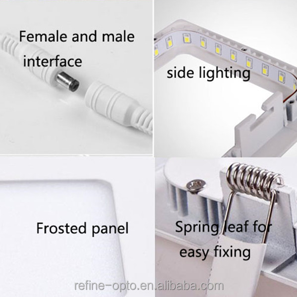 hot sale 145 Square ultra slim 9w led panel downlight