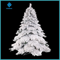 7ft white snowy flocked artificial pvc christmas tree