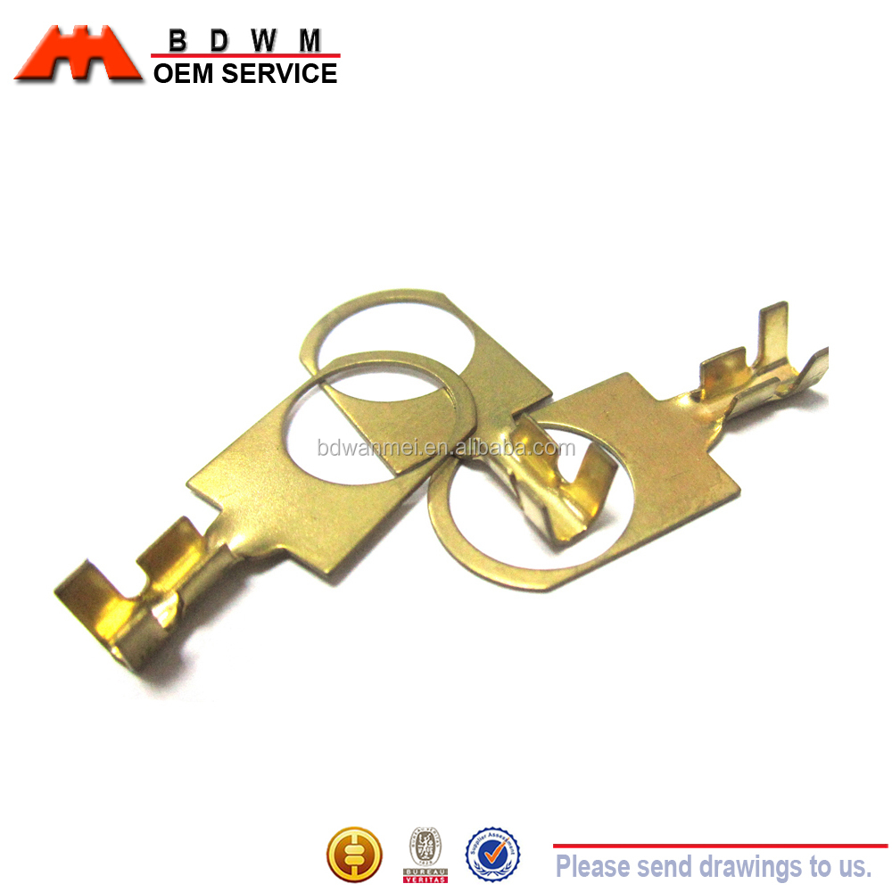 OEM little brass plate Stamping joint