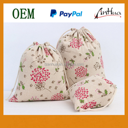 Special Beautiful Dandelion Small Cotton Drawstring Bags