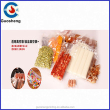 nylon laminated transparent food vacuum plastic bag for areca-nut, sausage, meat, dried food packaging/nylon placstic bag