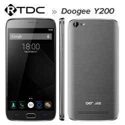 Doogee Y200 Mobile Phone Android 5.1 5.5 Inch 64-Bit MTK6735 Quad Core 2GB RAM 32GB ROM TOUCH ID 8.0MP Camera OTG GPS