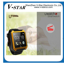 "2015 Hot Sale U Watch U8 Smart Watch 1.44""TFT LCD MTK6260-ARM7 for Android/IOS System"