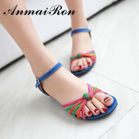 2016 fancy latest design women ladies flat sandals