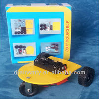 Self Assembly electronics education DIY robot car kit