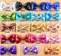 sequin bowknot, sparkle hair bow hair accessories, glitter appliques for dresses
