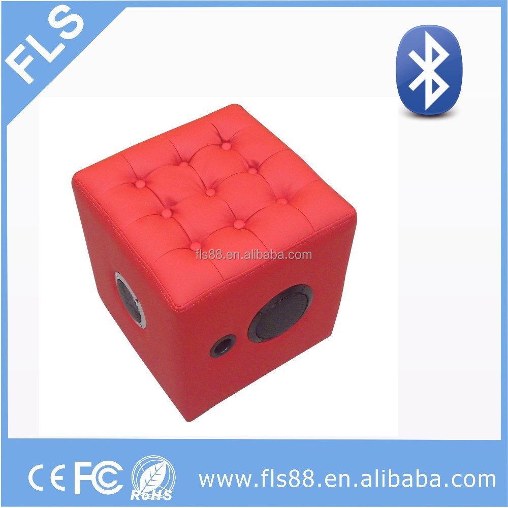 2015 hot sale strong bass furniture bluetooth ottoman speaker