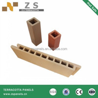 18mm terracotta facade tile for exterior wall, decorative outdoor terracotta wall tiles fire resist stone