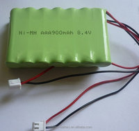 Ni MH 8.4V 7xAAA 900mAh rechargeable battery or akku pack for rc toy, nitro rc car,gun, boat, helecopter