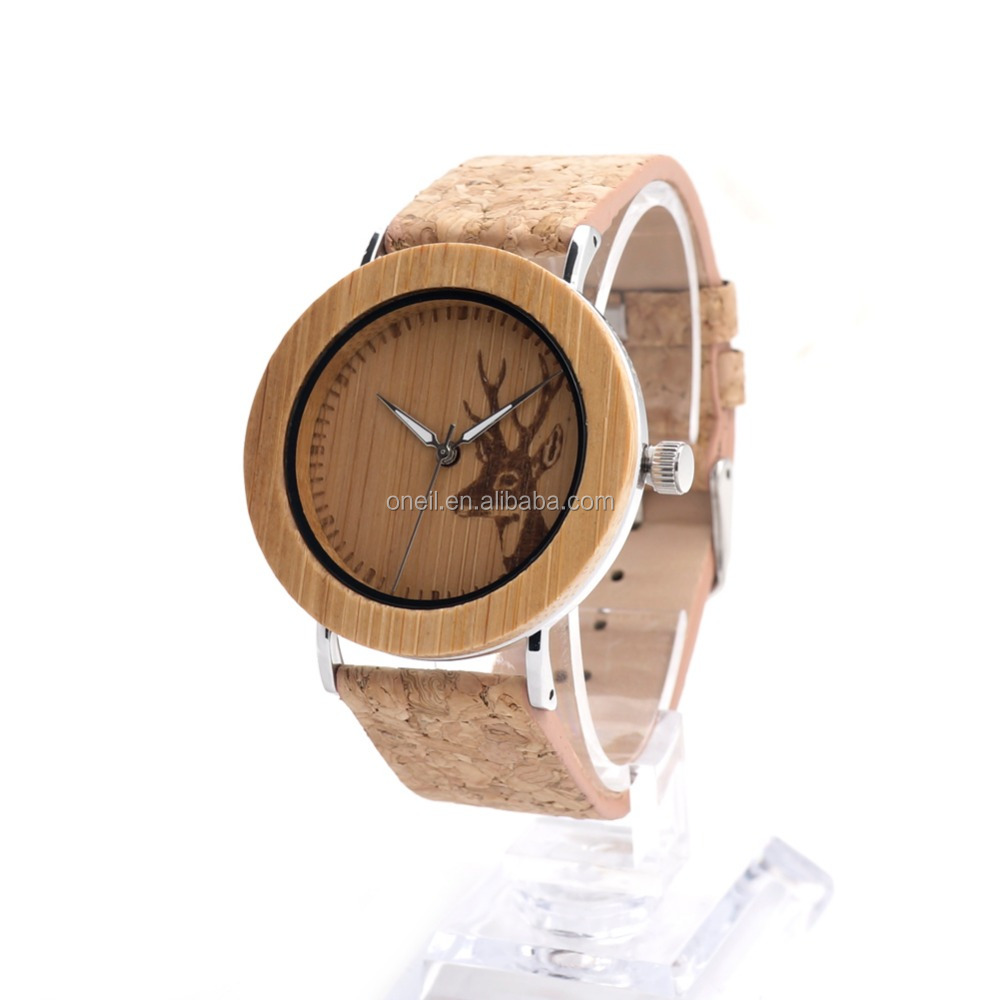 New arrival 100% healthy bamboo wrist watches high end quartz watches with stainless steel back