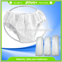 Non woven + cotton disposable panties for hospital travel massage