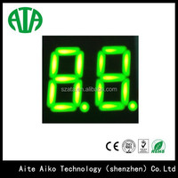 Ultra blue 0.3 inch 2 digits 7 segment led numeric display module